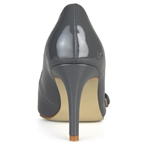 Journee Collection Mujeres Classic Mary Jane Pumps Gray