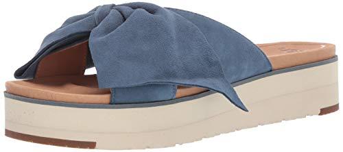 UGG Women's Joan II Flat Sandal, Desert Blue, 10 M US (Bows For Women Uggs With)