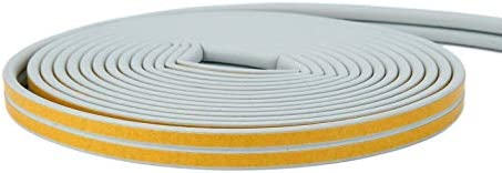Furobayuusaku 12m Foam Draught Excluder D Type Seal Strip Insulation for Door Window New