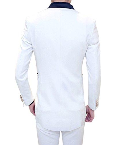 MOGU Mens Tail Tuxedo 3 Piece Suit US Size 32 White by MOGU (Image #4)