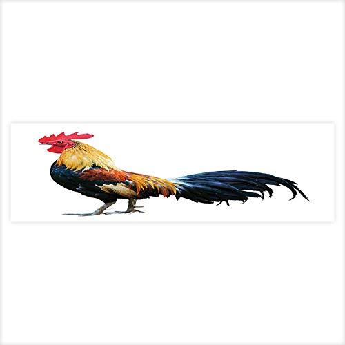 - Jiahong Pan Decorative Aquarium Thai red Rooster on White Background Aquarium Sticker Wallpaper Decoration 23.6