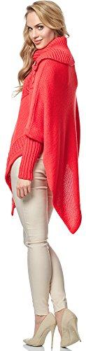 Corail Poncho pour Style Femme Merry MSSE0021 wHqPSnT