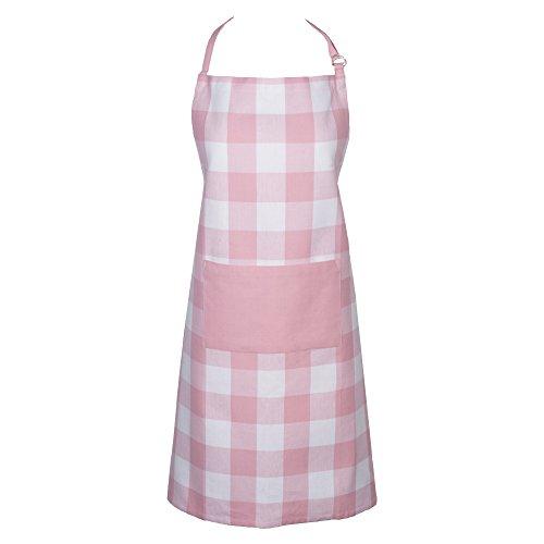 DII Men and Women Kitchen Pink Buffalo Check