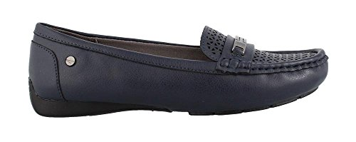 LifeStride Women's Viva 2 Driving Style Loafer, Navy, 10 W US by LifeStride