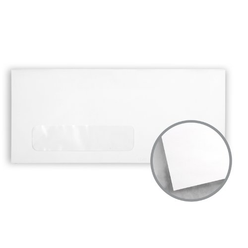 Printmaster White Envelopes - No. 10 Window (4 1/8 x 9 1/2) 24 lb Writing Wove 2500 per Carton by National Envelope Printmaster