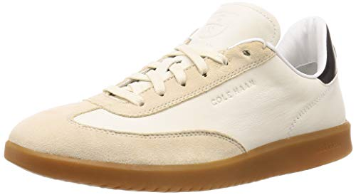 Cole Haan Men's Grandpro Turf Sneaker, Ivory Tumbled/Pumice Stone Suede, 9.5 M US