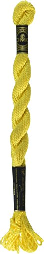 DMC 115 3-973 Pearl Cotton Thread, Bright Canary, Size 3 ()