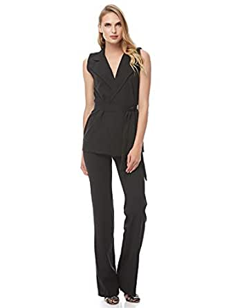 ART FedoRi Fashion Black Shirt Neck Two Pieces Wear For Women