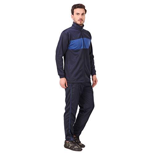 31DV0q3xNZL. SS500  - Fashion7 Men's Polyester Tracksuit - Tracksuit for Men Sports (Blue)