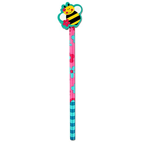 Doodle Dudes Pencil - Stephen Joseph Girl Kids School Doodle Dude Pencil W/Eraser - Bee