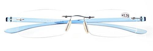 Eyekepper Lunettes de lecture / de Vue en acier inoxydable verre Acrylique Leger pour homme femme Bleu