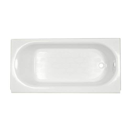 American Standard 2395202ICH.020 Princeton Recess 5-Feet Right-Hand Drain Americast Bath Tub with Integral Overflow, White (American Standard Cast Iron Tub)