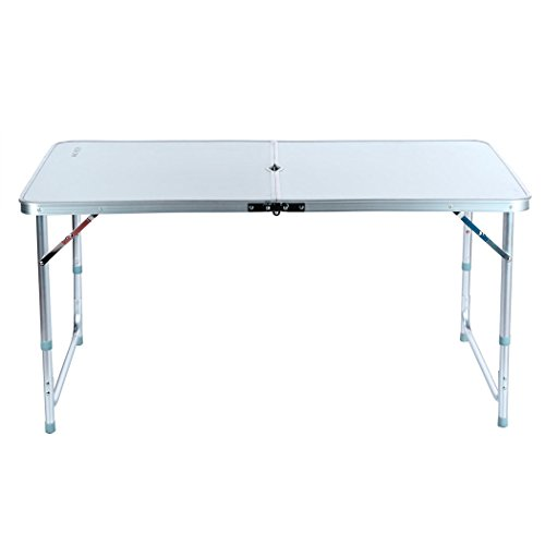 [Aluminum Folding Table 4'Portable Outdoor Picnic Camping Table Party Useful] (Log Costume)