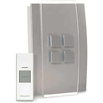 Honeywell RCWL3501A1004/N Decor Wireless Doorbell / Door Chime and Push Button