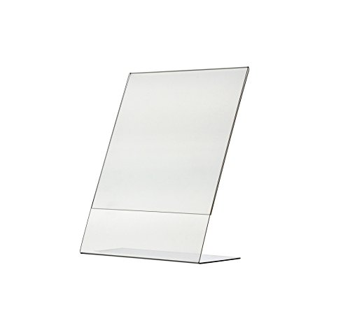 Marketing Holders Slant Back 8 1/2''w x 11''h Table Tent/Ad Frame Slant Back Frame Only Pack of 1 by Marketing Holders