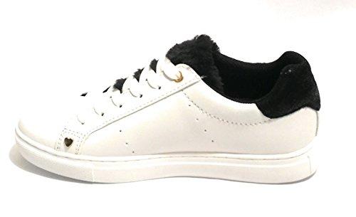 Mujer Jeans De Bianco Trussardi Lapin Tongue Nero Sneakers Fur Para Gimnasia Zapatillas gdnwzAqdH