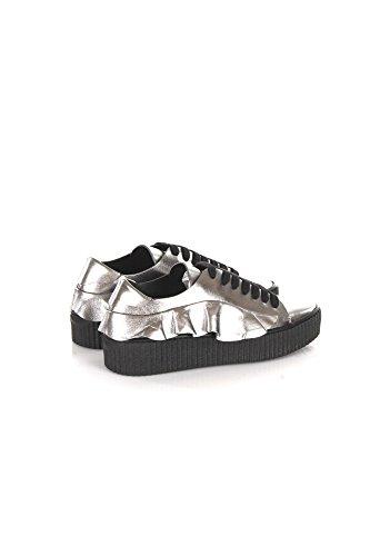 Sneakers Donna Pinko 36 Argento Endine Autunno Inverno 2017/18