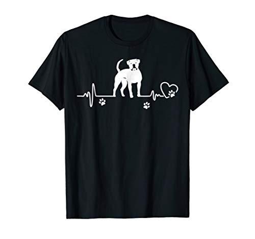 My American Bulldog always in my heart - heartbeat shirts