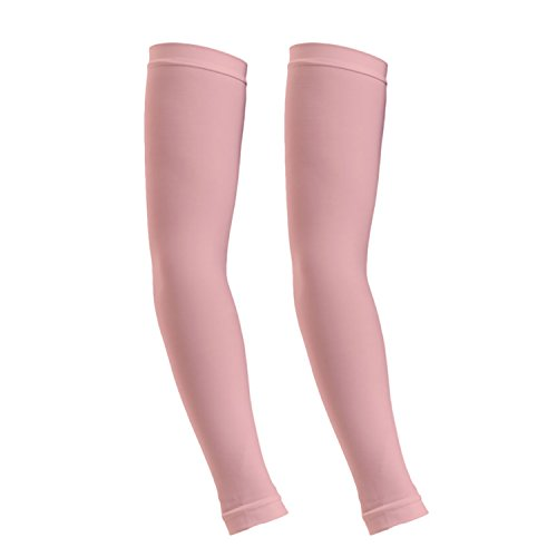 ReLive Women's Microfiber Stretchy Arm Sleeves (1 Pair) Pink (Arm Pink Warmers)