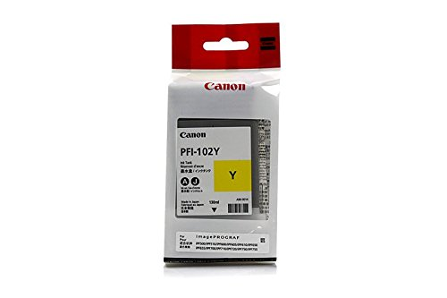 (Canon Imageprograf IPF 610 plus -Original Canon 0898B001 / PFI-102Y - Yellow Ink Cartridge -)