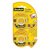 Office Products : 3M Scotch Double Sided Tape with Dispenser, 1/2 x 400 Inches, 2 Rolls (137DM-2)