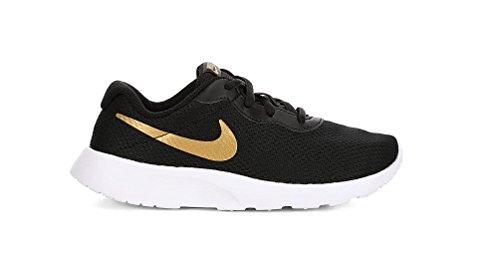 nike des garçon est tanjun (ps) des nike chaussures de course (11,5 m metallicOr  petit, noir, blanc ) 58873a