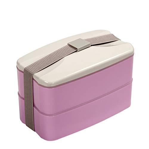 QPOJH Bento Box Doble Capa Lunchbox Met Lepels draagbare ...