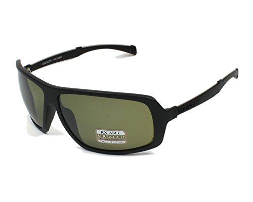 Serengeti 8099 Alassio Sunglass, Satin Black Frame, Polarized 555nm Lens (Sunglasses Polarized 555nm Lens)