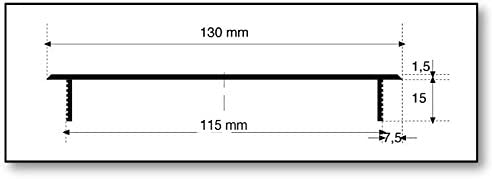 Disponible en diff/érentes couleurs Grille d/'a/ération MS Beschl/äge/® en aluminium Argent anodis/é - F1 A encastrer 130 x 300/mm