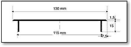 MS Beschl/äge /® L/üftungsgitter Grille de Chauffage Couvercle 130/mm x 200/mm Couleurs Noir//–/RAL 9005
