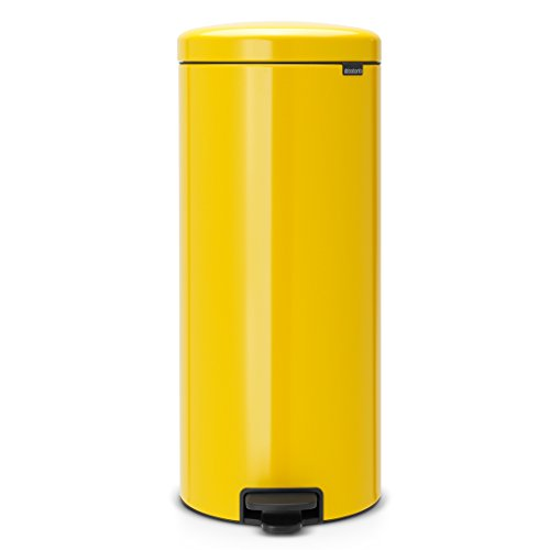Brabantia Step Trash Can newIcon with Plastic Inner Bucket, 8 Gal. - Daisy ()