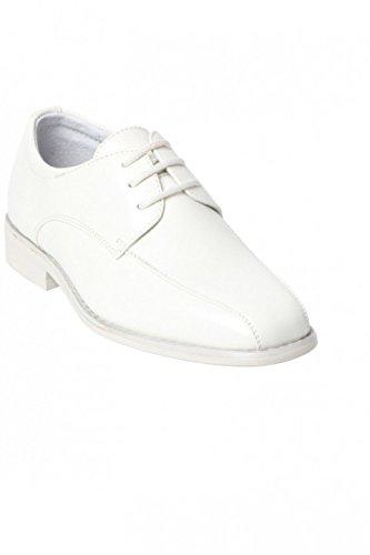 6534c5798b65e Chaussure Garçon Mariage Derby 3 trous blanche cassé