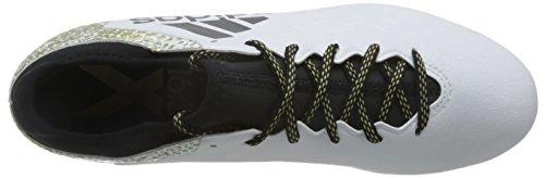 adidas Herren X 16.3 AG Fußball-Trainingsschuhe Weiß (Ftwr White/Core Black/Gold Metallic)