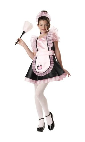 [French Maid Costume - Child Costume - X Large] (Halloween French Maid Costumes)