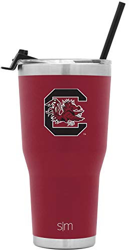Simple Modern South Carolina 30oz Cruiser Tumbler with Straw & Flip Lid - Vacuum Insulated Stainless Steel Travel Mug - Tailgating Cup College Flask