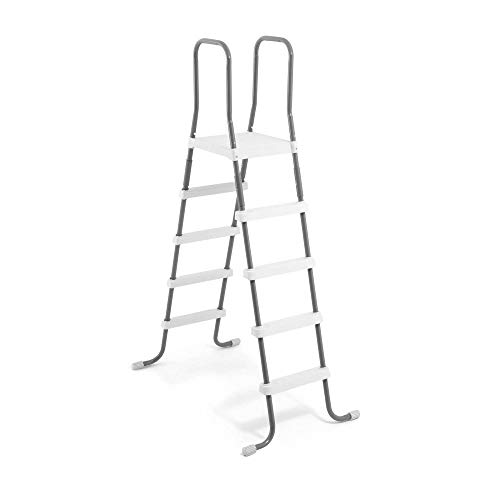 Intex Steel Frame Above Ground Swimming Pool Ladder for 52 Inch Wall Height Pools
