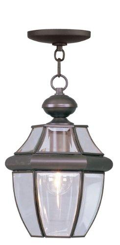 Livex Lighting 2152-07 Monterey 1-Light Outdoor Hanging Lantern, Bronze (Hanging Lighting Lantern Fixture)