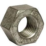 (50pcs) 1 1/4''-7 HEAVY HDG/WAX/BLUE DYE Heavy Hex Nut 2H, A194/SA 194, Hot Dip Galvanized (HDG), (inch), Size: 1-1/4''-7