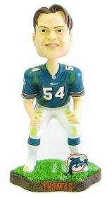 Miami Dolphins Zach Thomas Game Worn Forever Collectibles Bobblehead