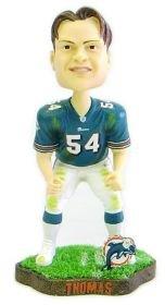 Miami Dolphins Zach Thomas Game Worn Forever Collectibles Bobblehead (Miami Dolphins Head Bobble)
