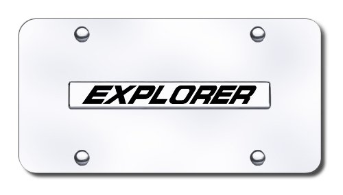 Auto Gold XPLNCC Chrome On Chrome License Name Plate Explorer