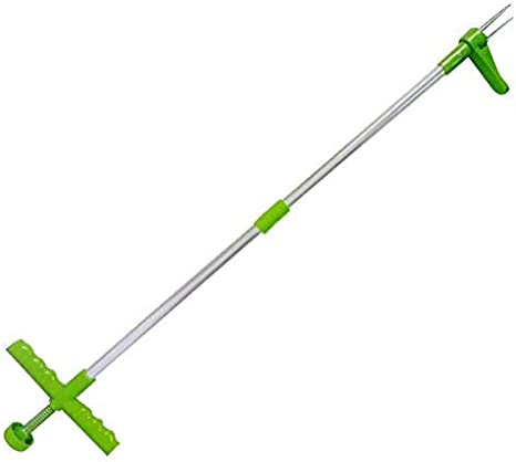 Root Digger Grass Digger Rooter Ripper Weeding Tool for Dandelions Crabgrass Long Handled Claw Weeder Manual Weed Puller Lightweight Weed Remover Chickweed HEITIGN Weeder Grass Puller