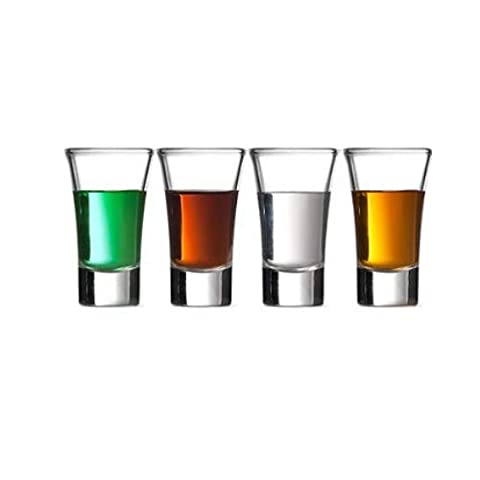 Gmark 2-Ounce 2-Oz Heavy Base Shot Glass Set, Whiskey Shot Glass espresso liquor 12-Pack GM2026