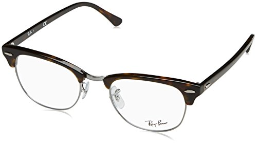 Ray-Ban Clubmaster No Polarization Square Prescription Eyewear Frame, Dark Havana, 51 mm (Ray-bans Rx)