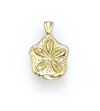 Vernis Sanddollar 14 Carats Pendentif JewelryWeb