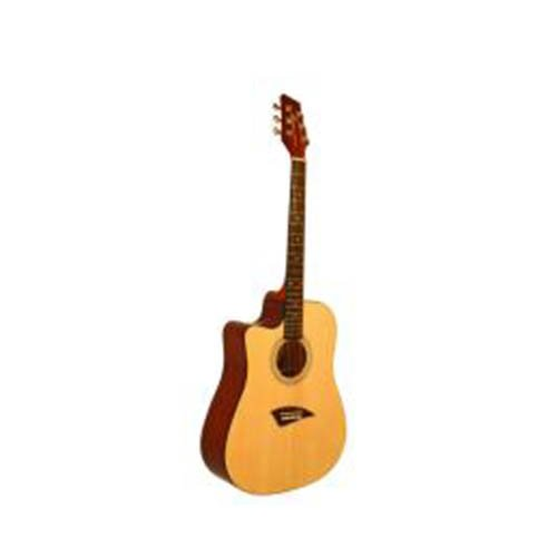 Acoustic & Electric Guitars Beginner Pack - Left Handed Acoustic Dreadnought Cutaway Guitar, Double Cutaway Electric Guitar in Blue, Mini Amp & Beginner Book