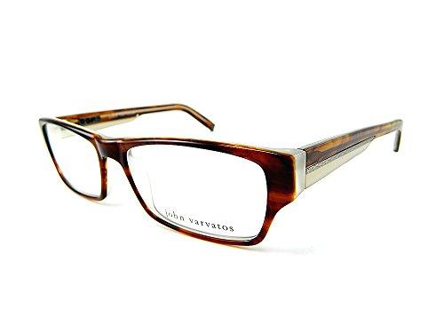 John Varvatos V332 Eyeglasses V-332 Amber Tortoise Optical - Masculine Eyeglasses