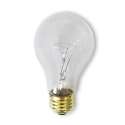 Bulbrite 60A/CL/RS-2PK 60 Watt Incandescent A19 Rough Service Bulb, Clear