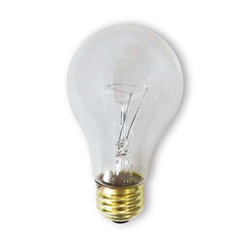 Incandescent Rough - Bulbrite 60A/CL/RS-2PK 60 Watt Incandescent A19 Rough Service Bulb, Clear, 2 Pack
