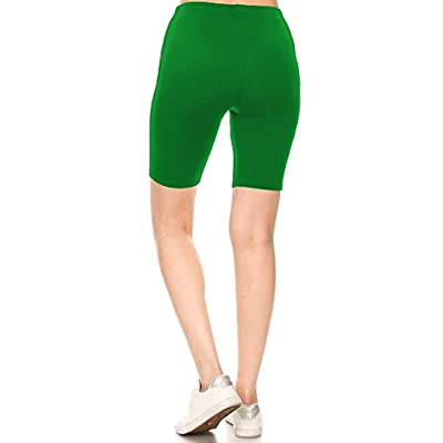Leggings Depot Women's Fashion Biker Shorts Popular Prints & Solid Color: Clothing